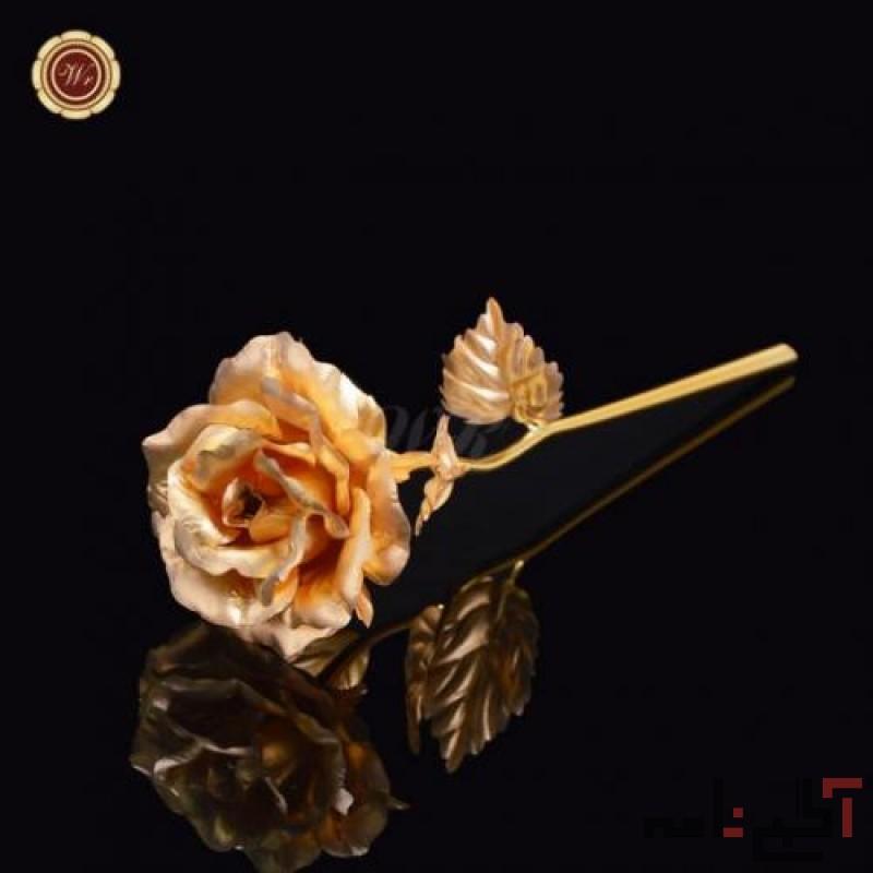 اسکناس رومیزی و جاسوئیچی  و شاخه گل رزطلا