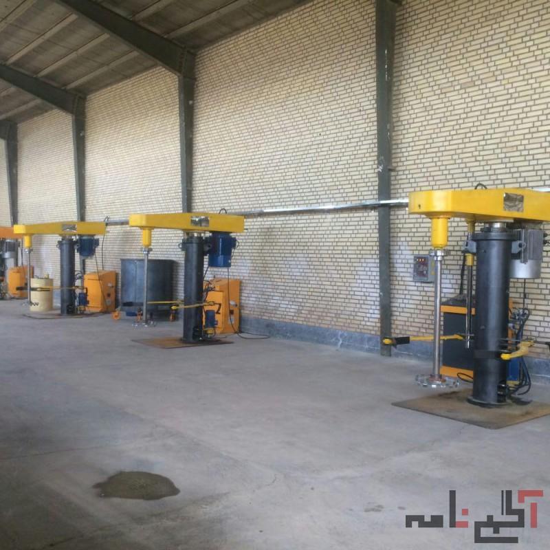 ماشین سازی والی تولیدکننده میکسر و همزن و رآکتور در توان های مختلف