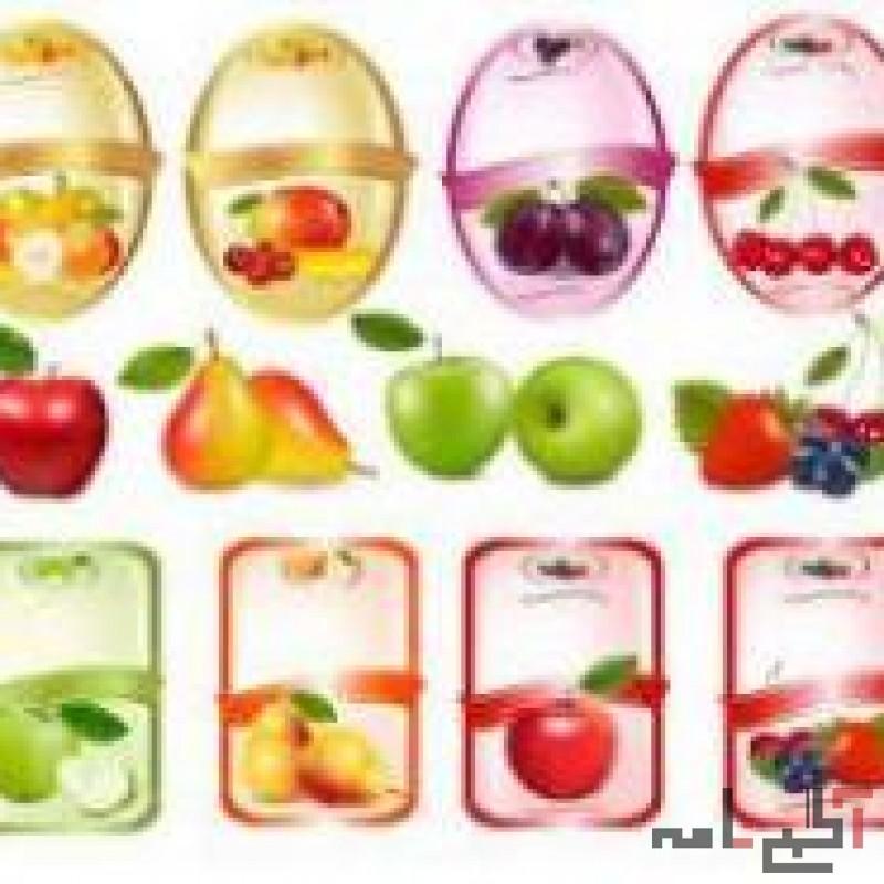 چاپ لیبل میوه - لیبل انگشتی- فروش برچسب آماده میوه
