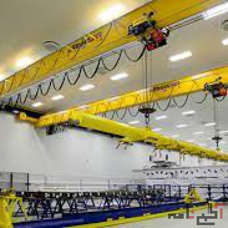 طراحی، ساخت و تأمین قطعات جرثقیل سقفی، بالابر صنعتی، فریم تابلو برق و ضربه گیر