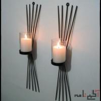 شمعدان , دیوارکوب . استند گل و وسایل تزئینی فلزی