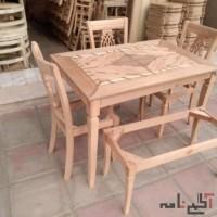 میز و صندلی غذاخوری مدل ناهید