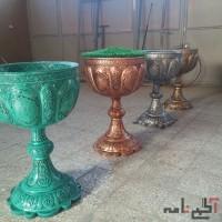 گلدان فایبر گلاس طرح جام/زرین کار صفاهان